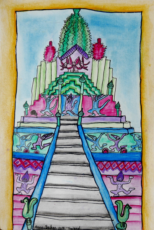 Bangkok Temple by Anna Becker
