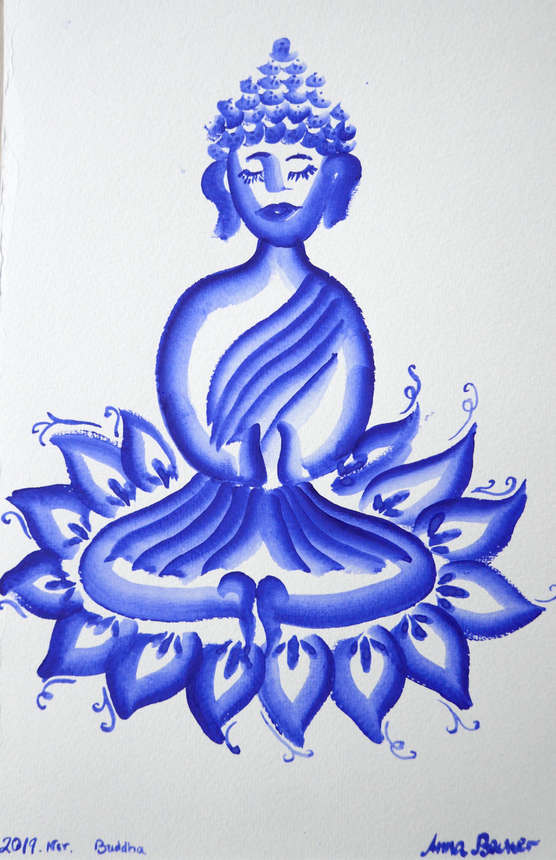 Buddha Gzhel