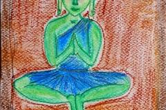 Buddha painted by Anna