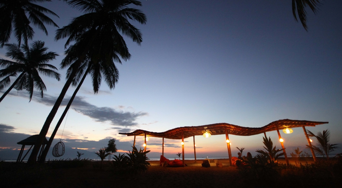 Abendliche Stimmung am Strand