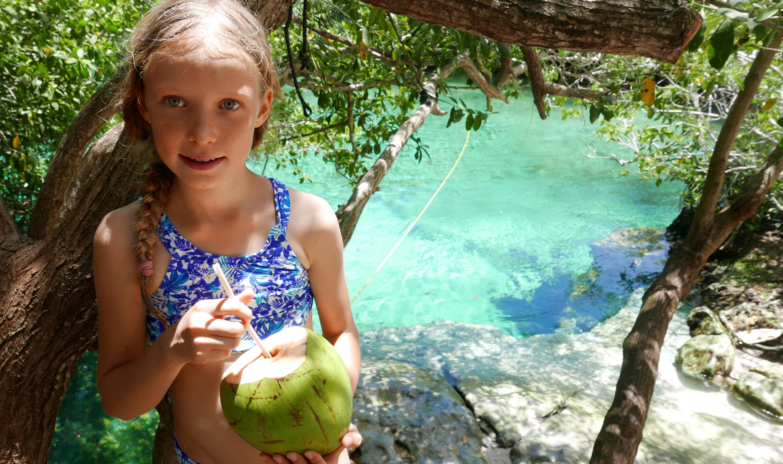 cenotes Tulum coconut