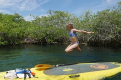 SUP cenotes extreme control