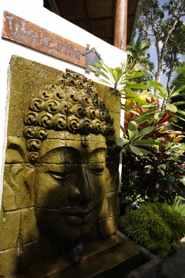 Entrance to Gajah Biru Bungalows and SPA