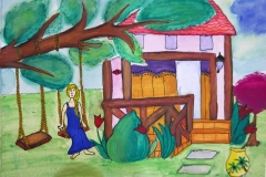 Gold Sand Beach Bungalow Annas painting