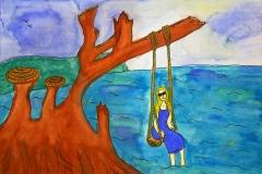 Gold Sand Beach Bungalow Annas painting 2