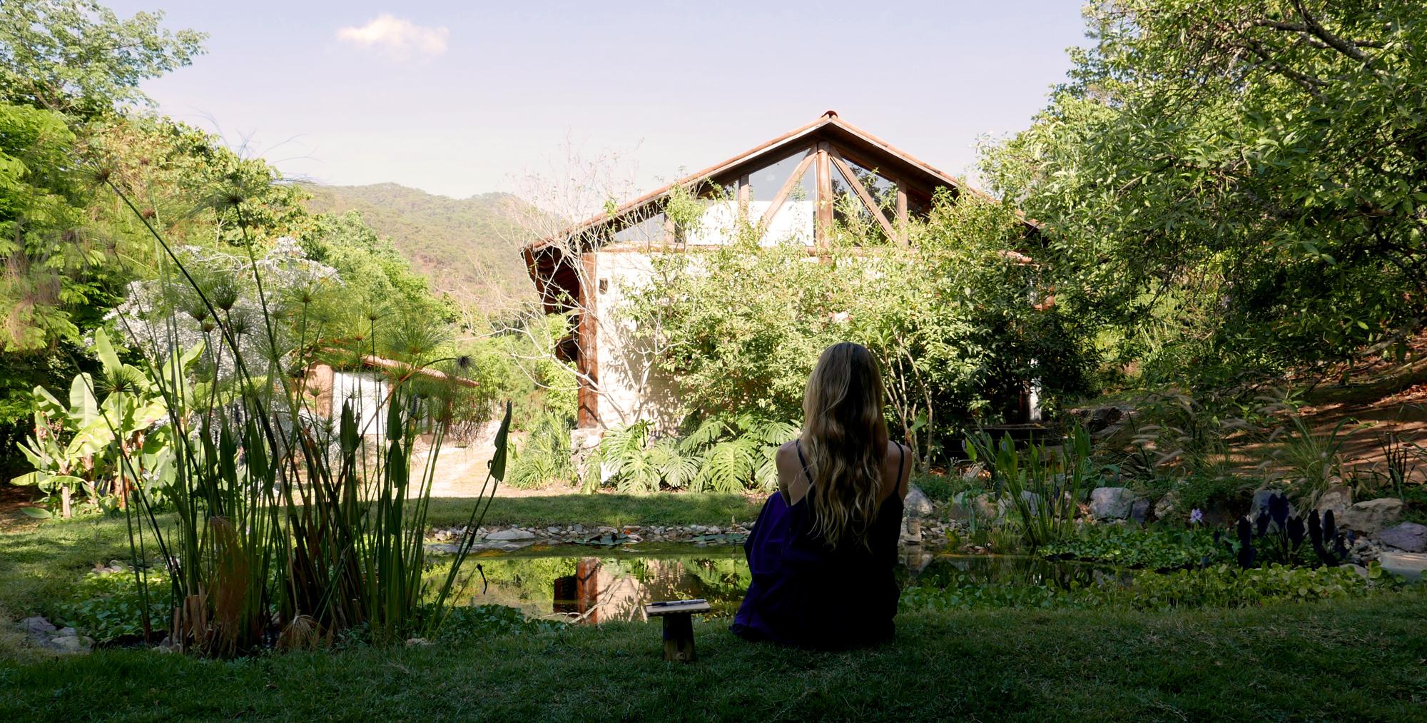 San Sebastian Mexico me in the garden