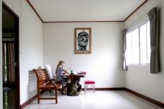 Anna malt in Kamalar Palace