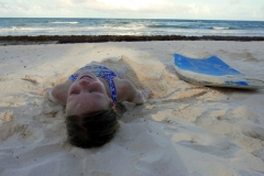 Playa Selva Tulum beach bodyboard