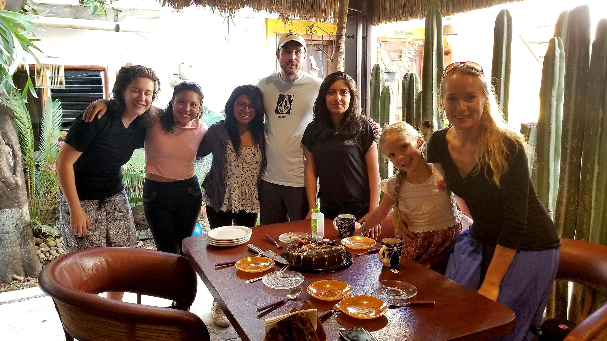 immersion spanish school oaxaca cake time