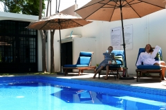 villas parota relaxed at pool