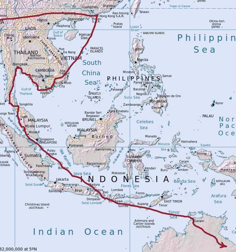 Map Of Southeast Asia Australia And New Zealand.Travel Films By Anna Becker And Svetlana Bogdanova