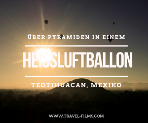 over teotuhuacan pyramids