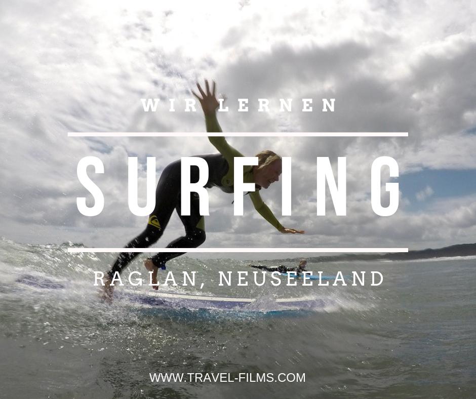 surfing green wave raglan