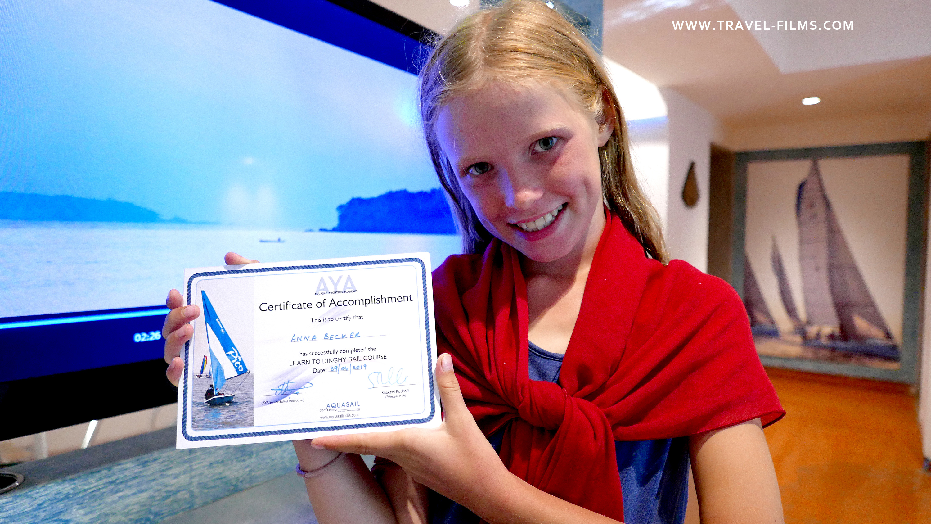 Aquasail India Goa sailing class certificate