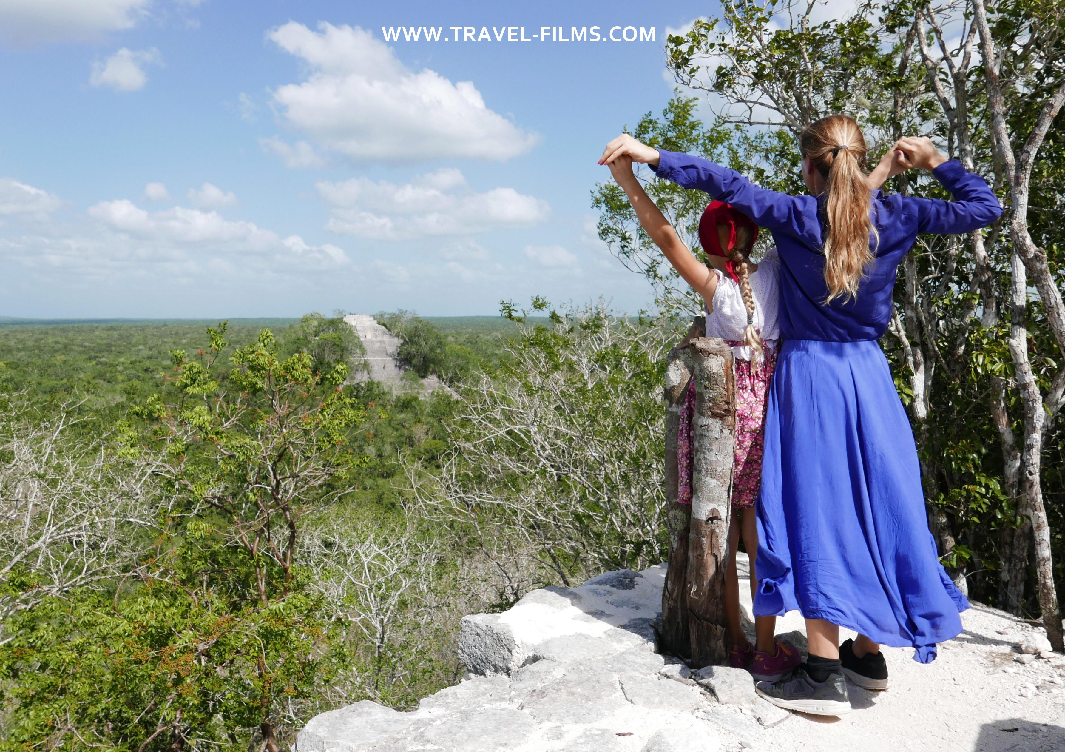 Calakmul Pyramids Mexico travel films bogdanova