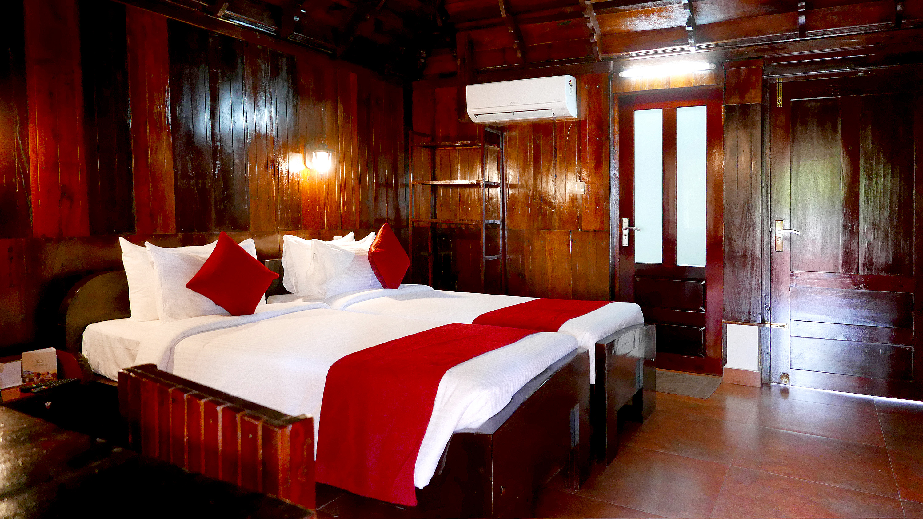 Kerala traditional wooden house Sukhayus room