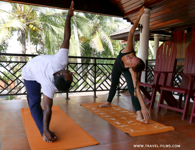 Sukhayus Ayurveda Kerala Yoga session