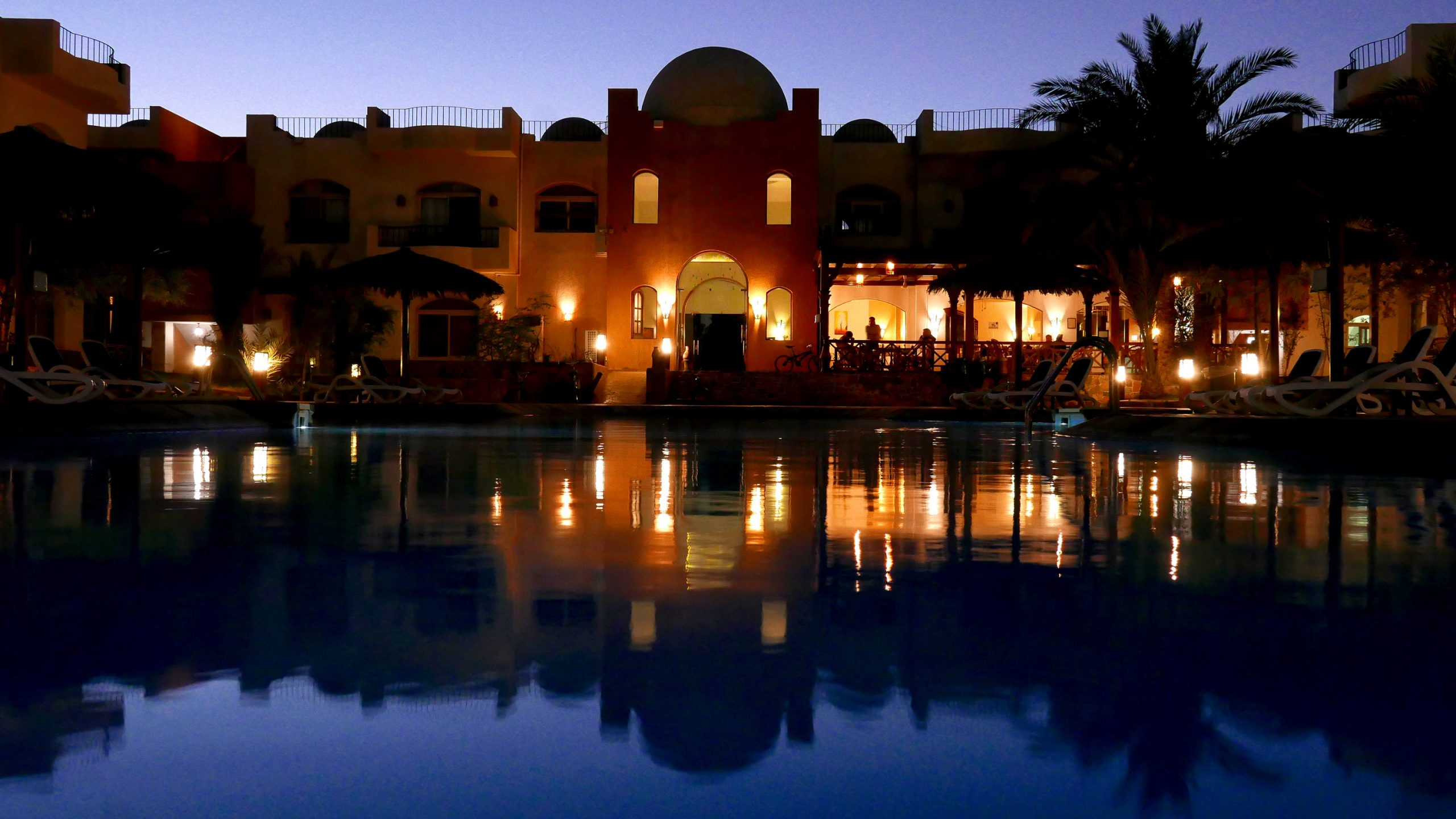 sheikh ali dahab resort evening pool